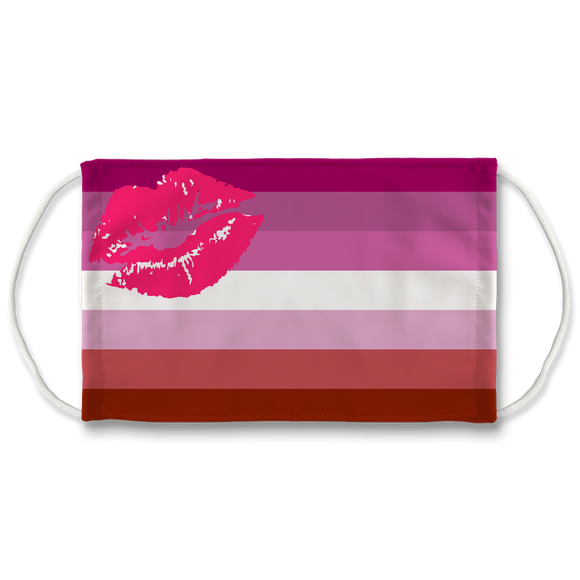 Lesbian Pride 2 7 Layer Filter Face Mask