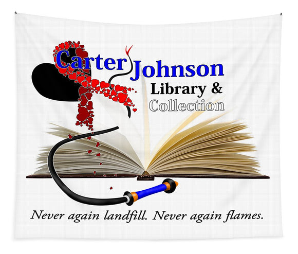 CJLC Red Ribbon Tapestry - Fine Art