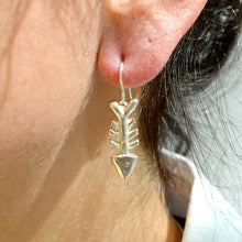 Load image into Gallery viewer, LAST PAIR Sterling Silver Fish Bone Earrings