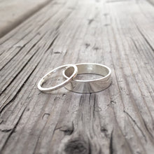 Load image into Gallery viewer, 5mm and 1mm Matching Couples Wedding Bands