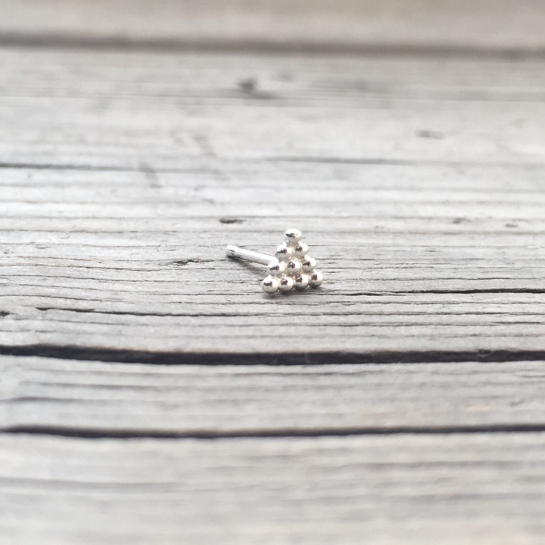 Large Triangle Sterling Silver Nose Pin