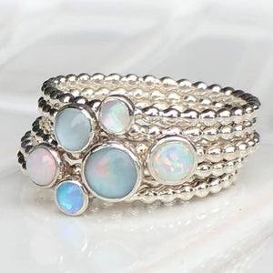 Opal Ring Stack