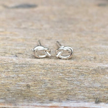 Load image into Gallery viewer, Silver Knot Earrings