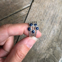 Load image into Gallery viewer, 4mm Sapphire Silver Ring