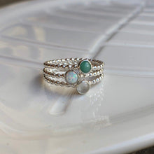Load image into Gallery viewer, Triple Birthstone Ring