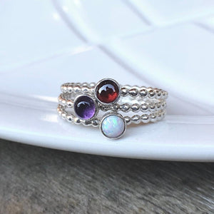 Triple Birthstone Ring