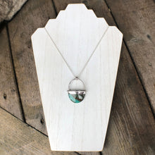 Load image into Gallery viewer, Silver Oval Agate Statement Pendant