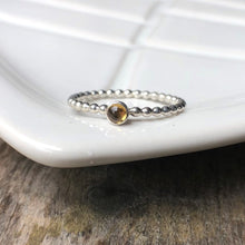Load image into Gallery viewer, 3mm Citrine Silver Ring