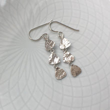 Load image into Gallery viewer, Reticulated Silver Dangle Earrings