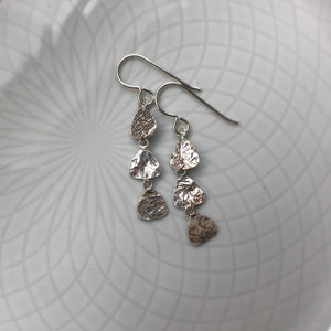 Reticulated Silver Dangle Earrings