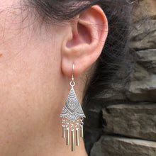 Load image into Gallery viewer, ONLY ONE PAIR of Silver Tassel Dangle Earrings