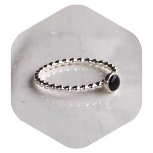 4mm Black Onyx Ring