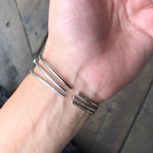 Load image into Gallery viewer, Morse Code Bracelets Closed on wrist