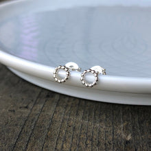 Load image into Gallery viewer, Everyday Mini Open Circle Earrings