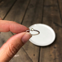 Load image into Gallery viewer, 3mm Peridot Stacking Ring