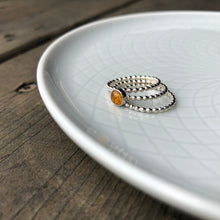 Load image into Gallery viewer, 5mm Baltic Amber Silver Ring