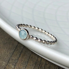 Load image into Gallery viewer, Aquamarine Silver Ring