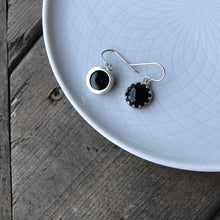 Load image into Gallery viewer, ONLY ONE PAIR of Black Onyx and Silver Dangle Earrings