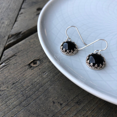 Black Onyx Statement Earrings