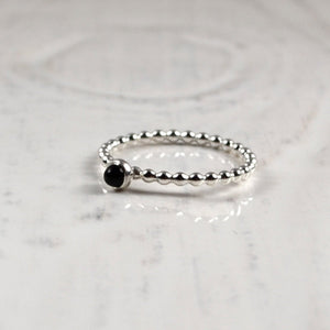 3mm Small Onyx Ring