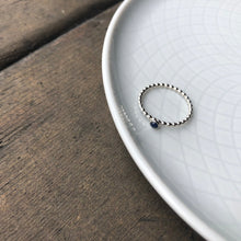 Load image into Gallery viewer, 3mm Sapphire Silver Ring