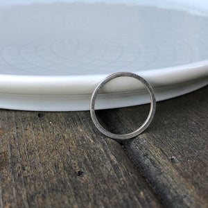 1mm Minimalist Sterling Silver Ring