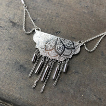 Load image into Gallery viewer, Silver Chain Mandala Necklace