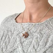 Load image into Gallery viewer, Small Wood Sparrow Necklace