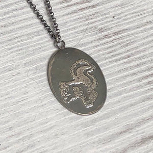Silver Squirrel Pendant
