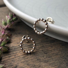 Load image into Gallery viewer, Open Beaded Circle Stud Earrings
