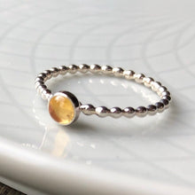 Load image into Gallery viewer, 4mm Citrine Silver Ring