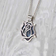 Load image into Gallery viewer, Silver Rose Pendant