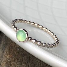 Load image into Gallery viewer, Chrysoprase Silver Ring
