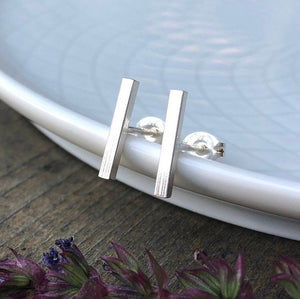 Minimalist Square Bar Post Earrings