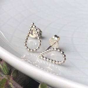 Sterling Silver Teardrop Post Earrings