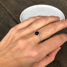 Load image into Gallery viewer, 6mm Black Onyx Sterling Silver Stacking Ring