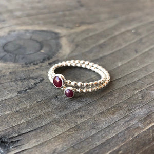 Two sized Ruby Rings