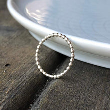 Load image into Gallery viewer, Silver Bead Ring
