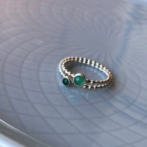 Two Sized Emerald Rings