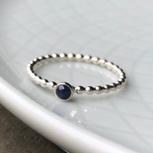 3mm Sapphire Silver Ring