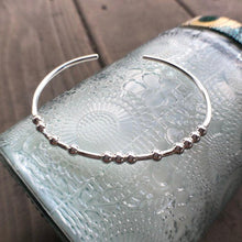 Load image into Gallery viewer, Sterling Silver BALANCE Morse Code Bracelet