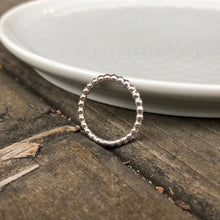 Load image into Gallery viewer, Sterling Silver 12 Gauge Beaded Band Ring