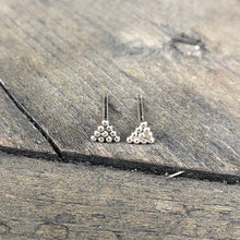 Load image into Gallery viewer, Everday Minimalist Silver Triangle Stud Earrings