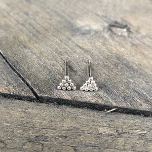 Everday Minimalist Silver Triangle Stud Earrings