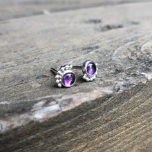 Load image into Gallery viewer, Eyelash Amethyst Studs