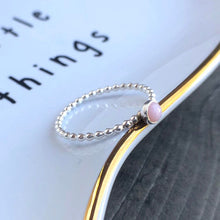 Load image into Gallery viewer, 4mm Pink Opal Sterling Silver Stacking Ring