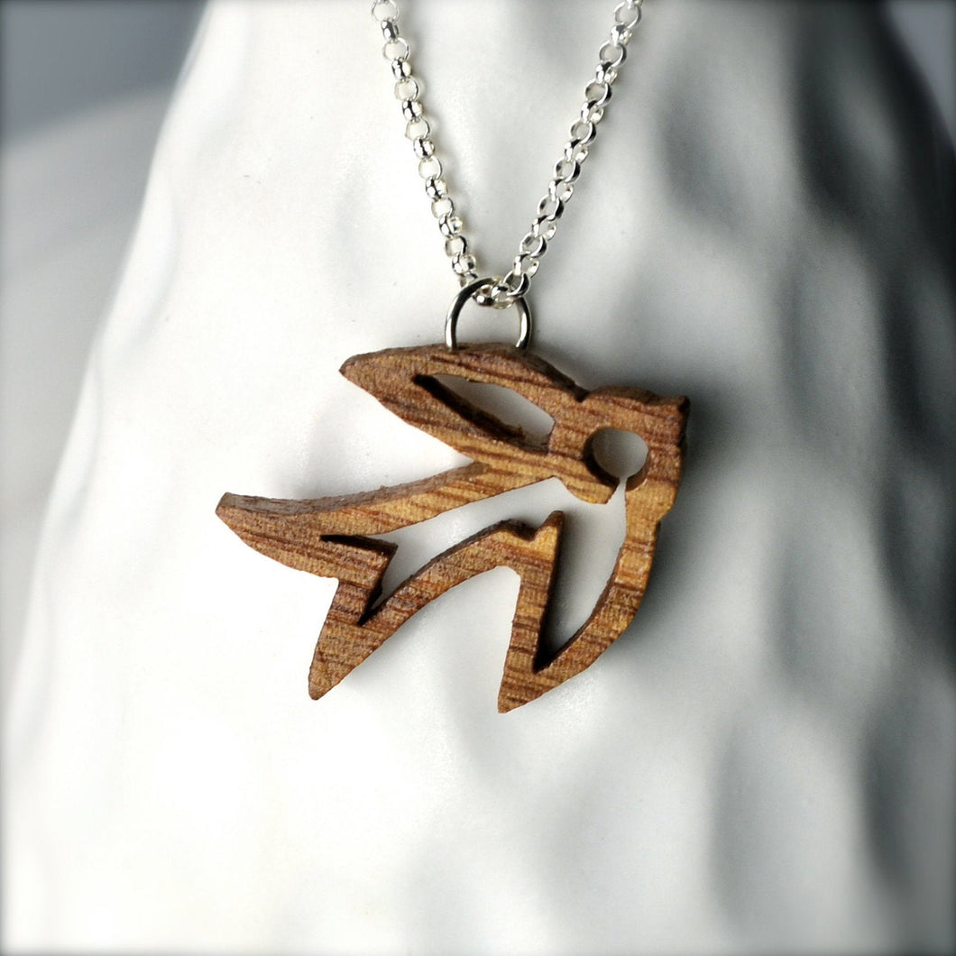 Small Wood Sparrow Necklace