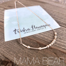 Load image into Gallery viewer, MAMA BEAR Morse Code Necklace