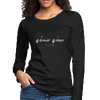 T-Shirt - Warrior Woman Spirit White Logo (Women's Long Sleeve)