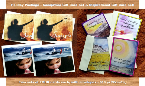 Holiday Package - Inspirational & Sacajawea Greeting Cards